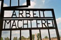 "Gate of Sachsenhausen Concentration Camp - ""Arbeit macht frei"""