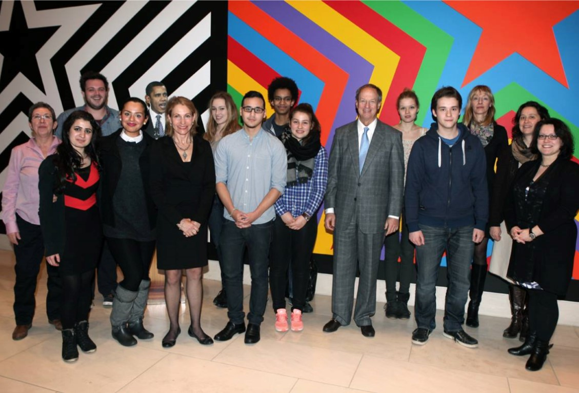 Berlin high school students meet with Ambassador Emerson as part of the foundation's Yes We Can! program