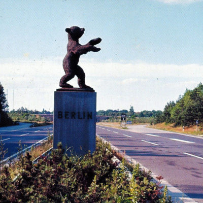 The Dreilinden border crossing. Exact date unknown.