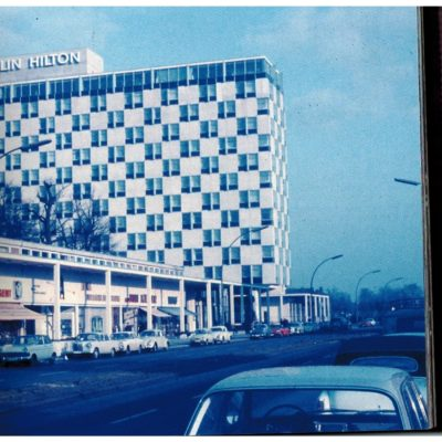 The Berlin Hilton, now the Intercontinental, in Budapester Str.  Exact date unknown