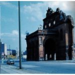 Anhalter Bahnhof in West Berlin, from which many Jewish Berliners were deported to death camps in the 1930s and 1940s. It was destroyed during the war and never rebuilt, because all the lines went to destinations in the East.