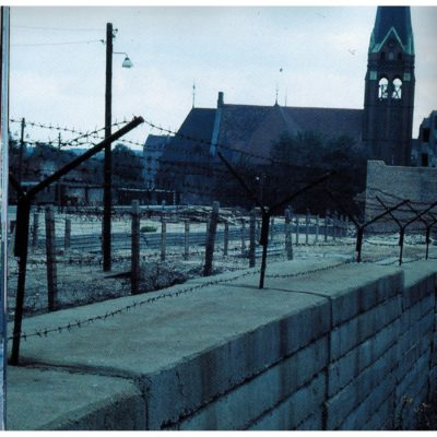 "The Church of Reconciliation, which stood in the middle of the ""Death Strip"" at Bernauer Str. It was destroyed by the East German government in the 1980s."