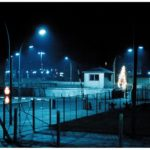 A Christmas tree at Checkpoint Charlie.