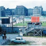 A viewing platform at Checkpoint Charlie