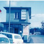 The Helmstedt Checkpoint (Checkpoint Alpha), where you would cross from West Germany to East Germany.