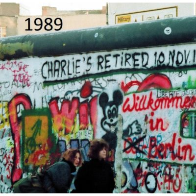 The wall in 1989, after the fall.